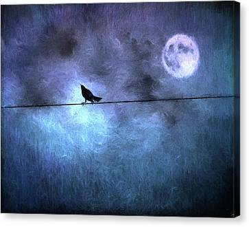 Canvas Print featuring the photograph Ask Me For The Moon by Jan Amiss Photography