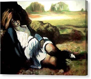 Asleep Canvas Print by Gabriel Aceves