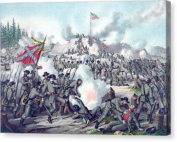 Assault On Fort Sanders Canvas Print by American School