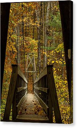 Canvas Print featuring the photograph At Bridge by Kevin Blackburn