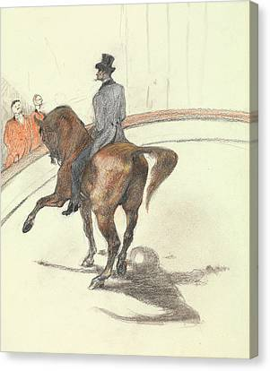 At The Circus - The Spanish Walk Canvas Print by Henri de Toulouse-Lautrec