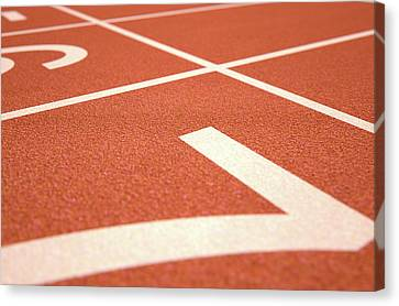 Athletics Track Startline Canvas Print by Allan Swart