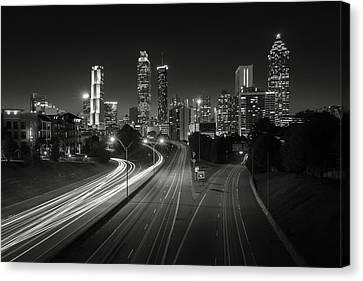 Atlanta Night Cityscape Canvas Print by Scott Slone