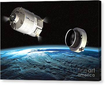 Atv Orbital Separation, Artwork Canvas Print by David Ducros