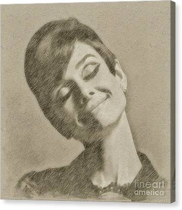 Audrey Hepburn Hollywood Actress Canvas Print