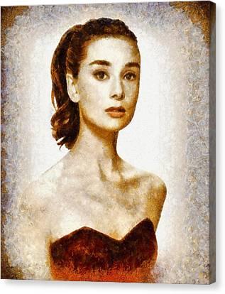 Audrey Hepburn Hollywood Actress Canvas Print