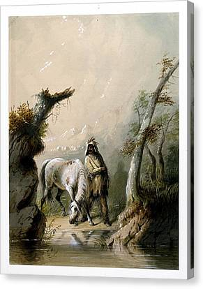 Auguste And His Horse Canvas Print