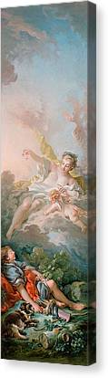 Aurora And Cephalus Canvas Print by Francois Boucher