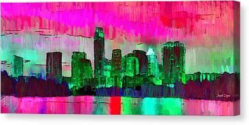 Austin Texas Skyline 206 - Da Canvas Print