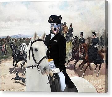Australian Cattle Dog Art - The Return From Capannelle Canvas Print