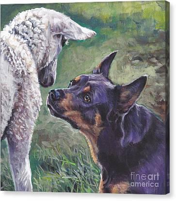 Kelpie Canvas Print - Australian Kelpie by Lee Ann Shepard