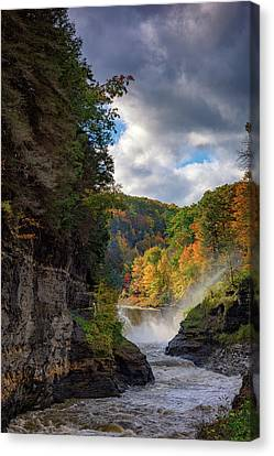 Autumn At The Lower Falls II Canvas Print by Rick Berk