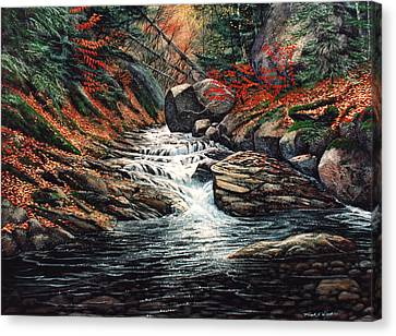 Autumn Brook Canvas Print by Frank Wilson
