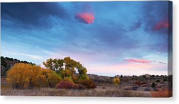 Canvas Print featuring the photograph Autumn Days by Tim Reaves