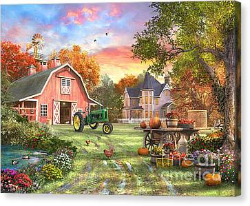 Autumn Farm Canvas Print by Dominic Davison