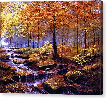 Vancouver Island Canvas Print - Autumn In Goldstream Park by David Lloyd Glover