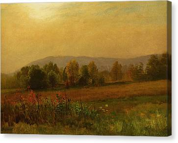 Autumn Landscape Canvas Print by Albert Bierstadt
