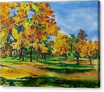 Autumn Canvas Print by Lupamudra Dutta