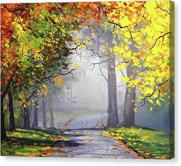 Autumn Mt Wilson Canvas Print by Graham Gercken