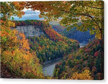 Autumn On The Genesee II Canvas Print by Rick Berk