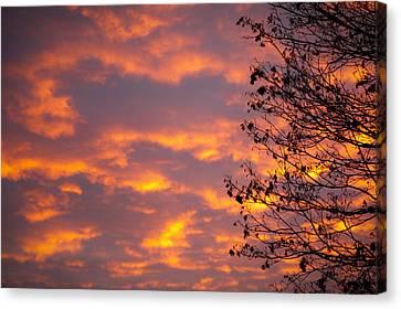 Autumn Sky Canvas Print by Konstantin Dikovsky