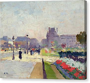 Tuileries Canvas Print - Avenue Paul Deroulede by Jules Ernest Renoux