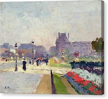 Avenue Paul Deroulede Canvas Print by Jules Ernest Renoux