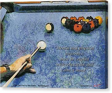 Awareness Zen Pool Canvas Print by Max Eberle