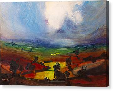 Expressionist Canvas Print - Awesome by Neil McBride