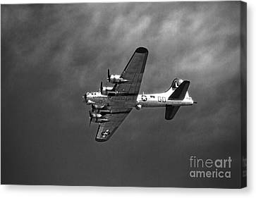 B-17 Bomber - Infrared Canvas Print