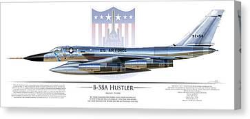Dale Jackson Canvas Print - B-58a Hustler 59-2458a by Dale Jackson