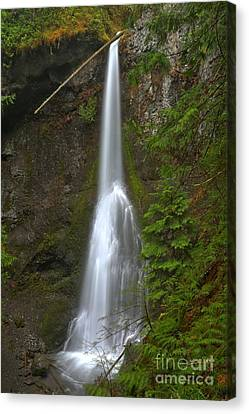 Marymere Olympic Waterfall Canvas Print by Adam Jewell