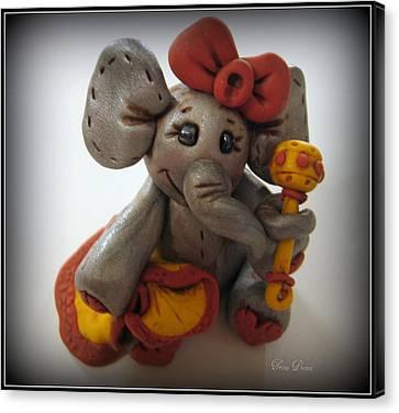 Baby Elephant Canvas Print by Trina Prenzi