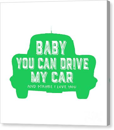 Baby You Can Drive My Car Canvas Print by Edward Fielding