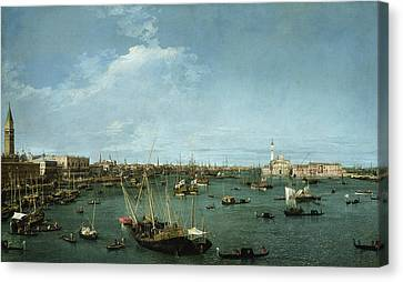 Bacino Di San Marco, Venice Canvas Print by Canaletto