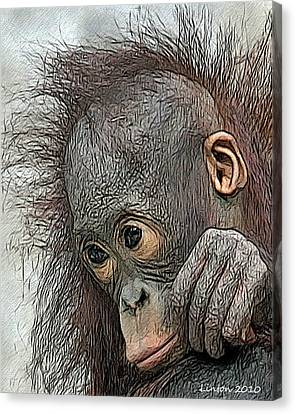 Bad Hair Day Canvas Print by Larry Linton