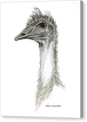 Bad Leroy Brown The Emu Canvas Print by Mamie Greenfield