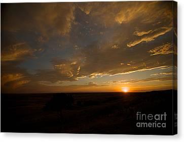 Badlands Sunset Canvas Print by Chris Brewington Photography LLC