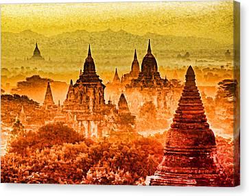 Bagan Pagodas Canvas Print by Dennis Cox WorldViews