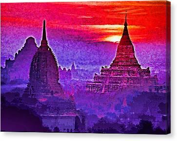 Bagan Sunrise Canvas Print by Dennis Cox WorldViews