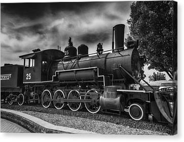 Old Trains Canvas Print - Baldwin Steam Engine by Garry Gay