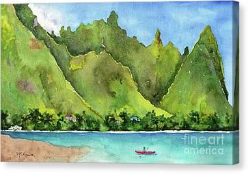 Canoe Canvas Print - Bali Hai by Melanie Pruitt