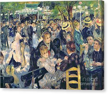 Ball At The Moulin De La Galette Canvas Print by Pierre Auguste Renoir