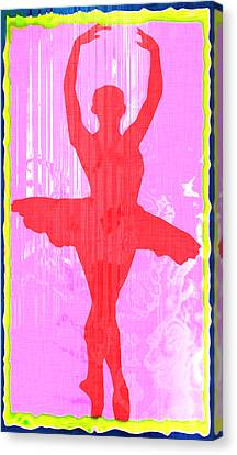 Ballet Dancer Canvas Print by David G Paul