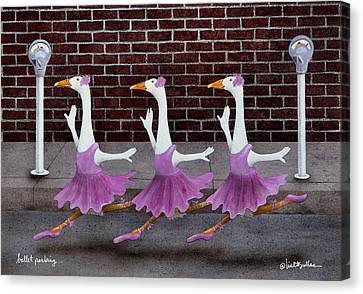 Ballet Parking... Canvas Print by Will Bullas