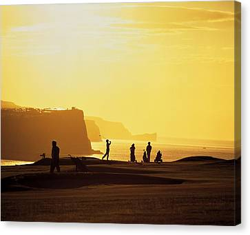 Ballycastle Golf Club, Co Antrim Canvas Print by The Irish Image Collection