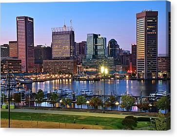 Constellation Canvas Print - Baltimore Blue Hour by Frozen in Time Fine Art Photography