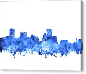 Canvas Print featuring the painting Baltimore Skyline Watercolor 7 by Bekim Art