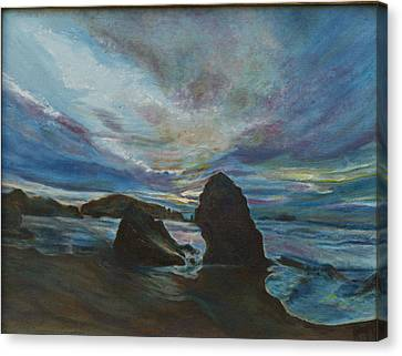 Bandon Beach Canvas Print by Kathy Knopp