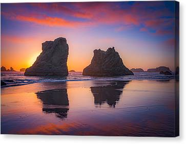Bandon Sunset Canvas Print